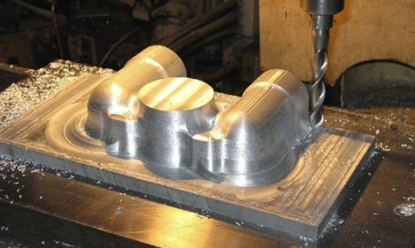 Пример фрезеровки металла
